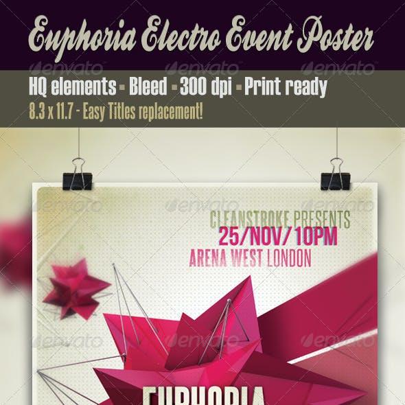 Euphoria Electro Event Poster