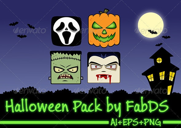 Halloween Pack - Characters Vectors