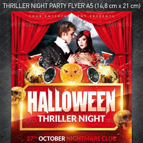 Halloween Thriller Night Party Flyer