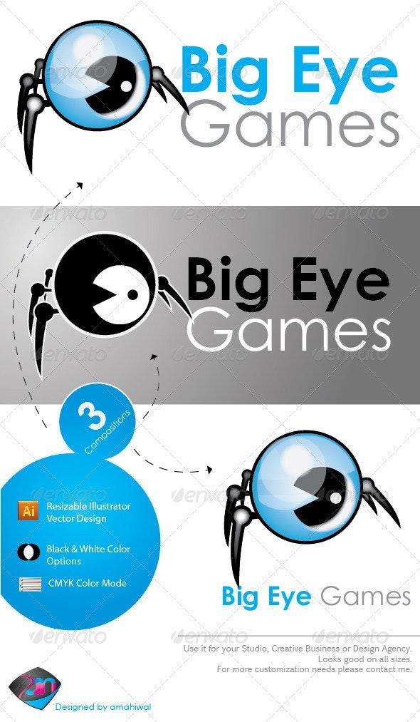 Big Eye Game Logo Template - Objects Logo Templates