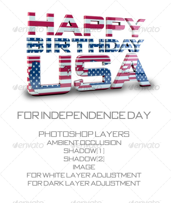 Independence Day - Objects 3D Renders