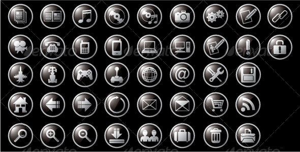 Web and Multimedia Icons - Web Icons