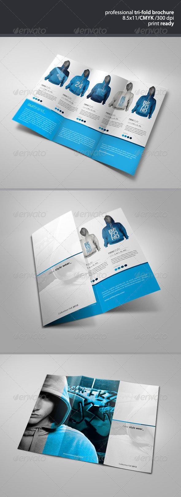 Apparel Tri-Fold Brochure 2 - Brochures Print Templates