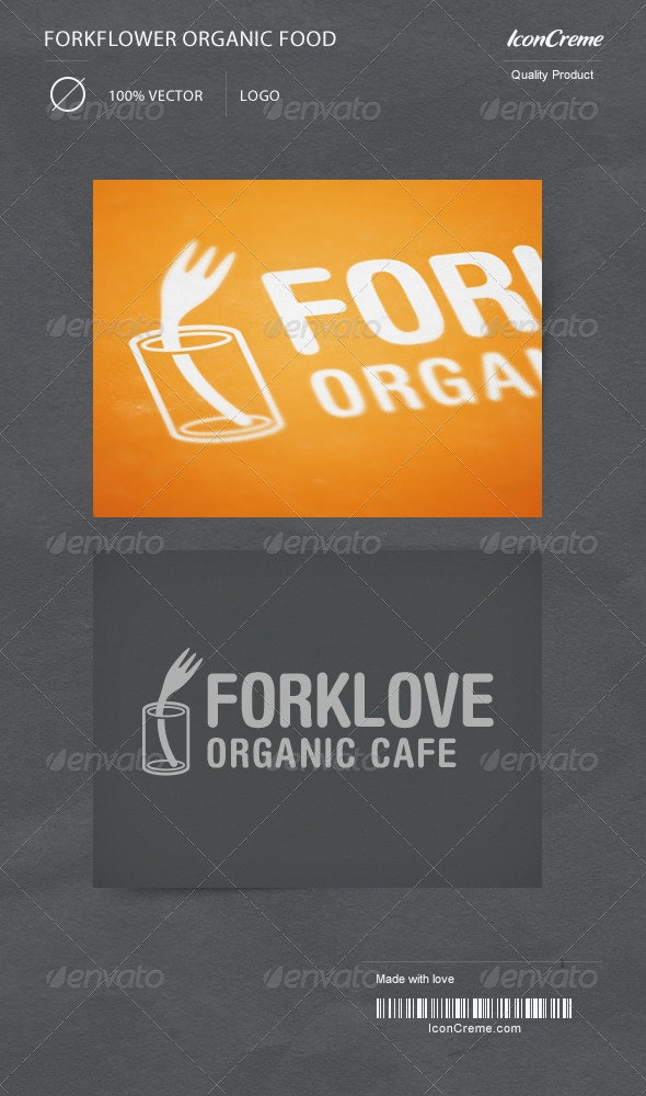 ForkLove Food Logo  - Objects Logo Templates