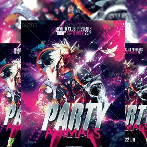 Party Animals Flyer