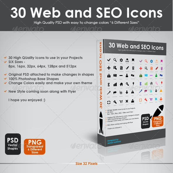 30 Web and SEO Icons