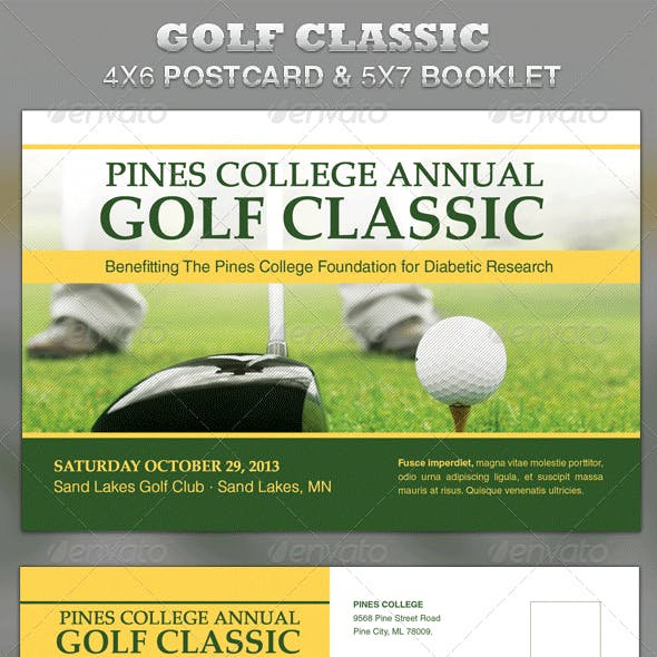 Golf Classic Mailer and Booklet Template