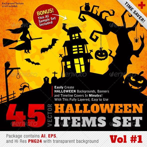 Halloween Vector Set Vol 01 - 45 Items