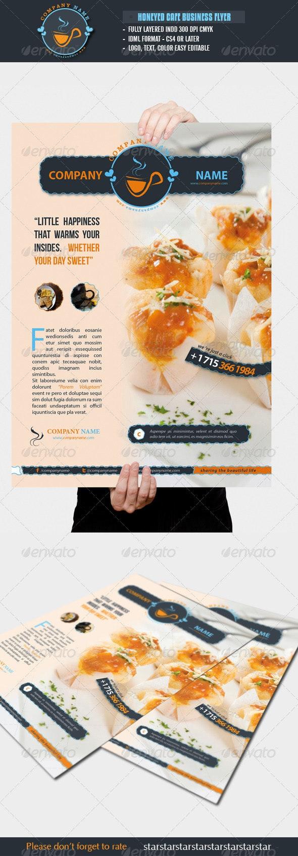 Honeyed Cafe Flyer - Restaurant Flyers