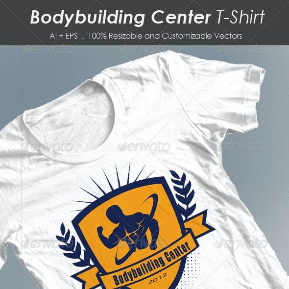 Bodybuilding Center Tshirt
