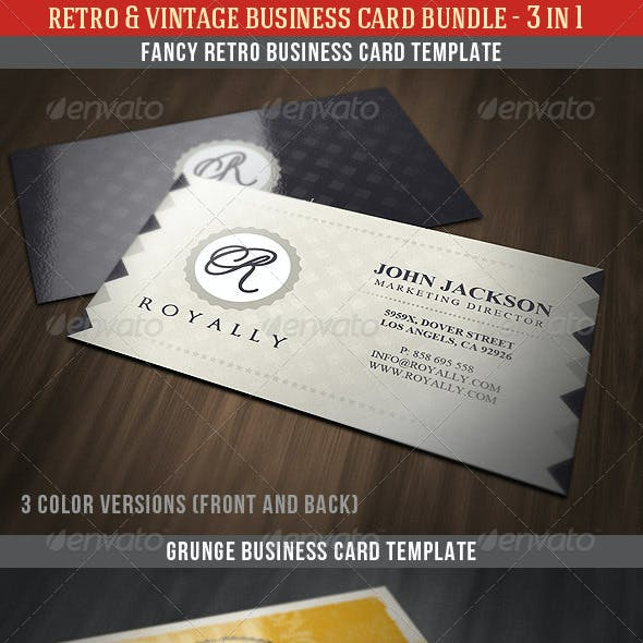 Retro & Vintage Business Card Bundle