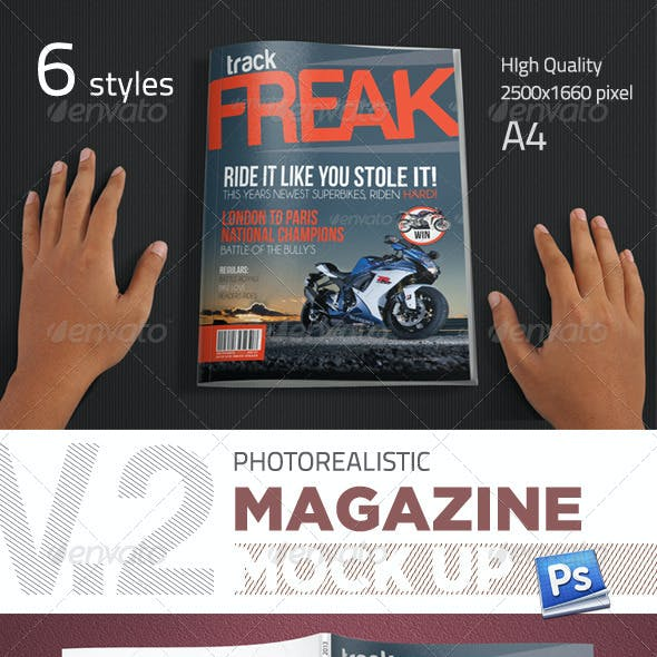 Photorealistic Magazine Mockup V.2