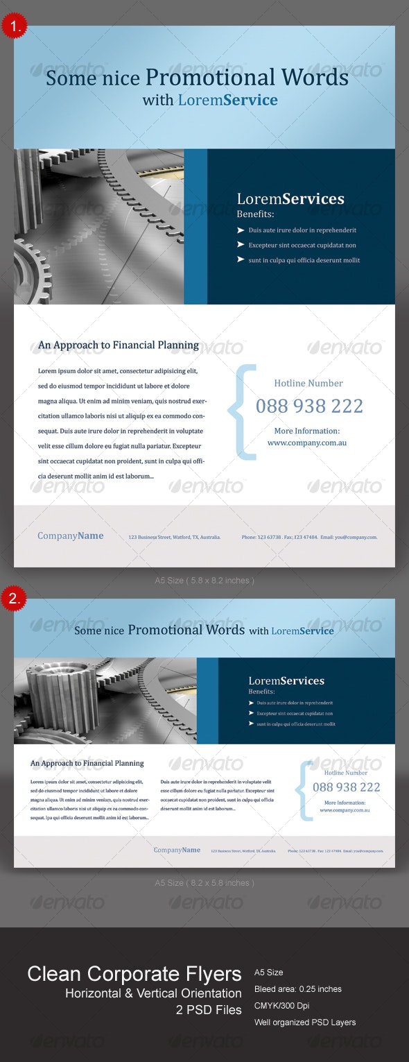 Clean Corporate Flyers - Corporate Flyers