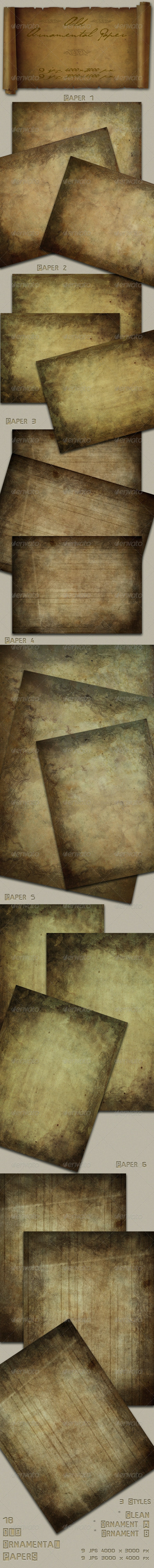Old Ornamental Paper - Paper Textures