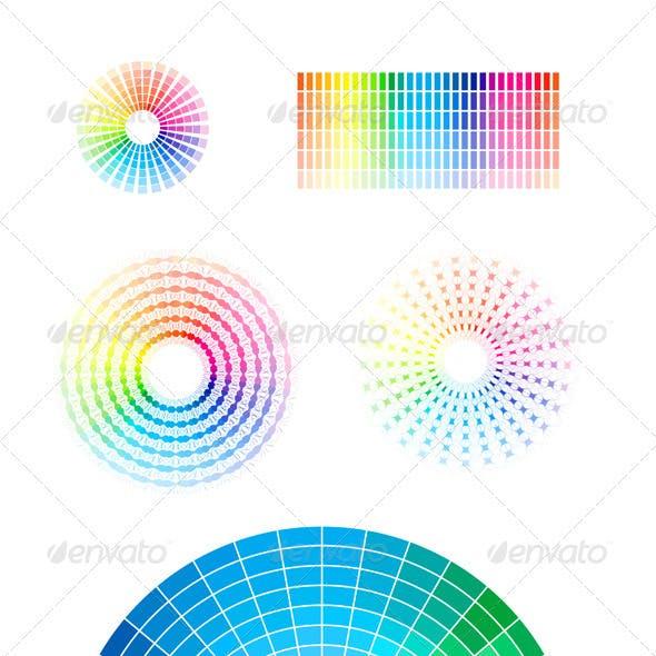Color Wheel Vector Set
