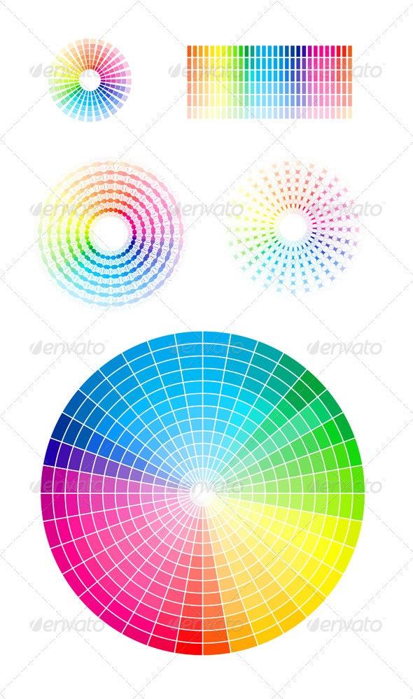 Color Wheel Vector Set - Abstract Conceptual