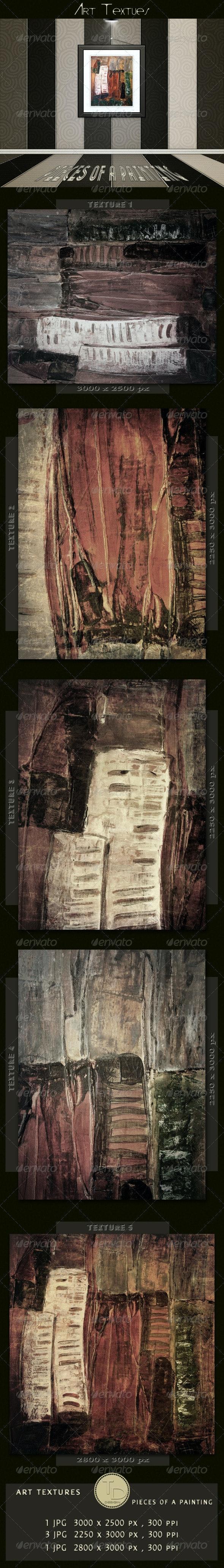 Art Textures - Pieces of a Painting - Art Textures
