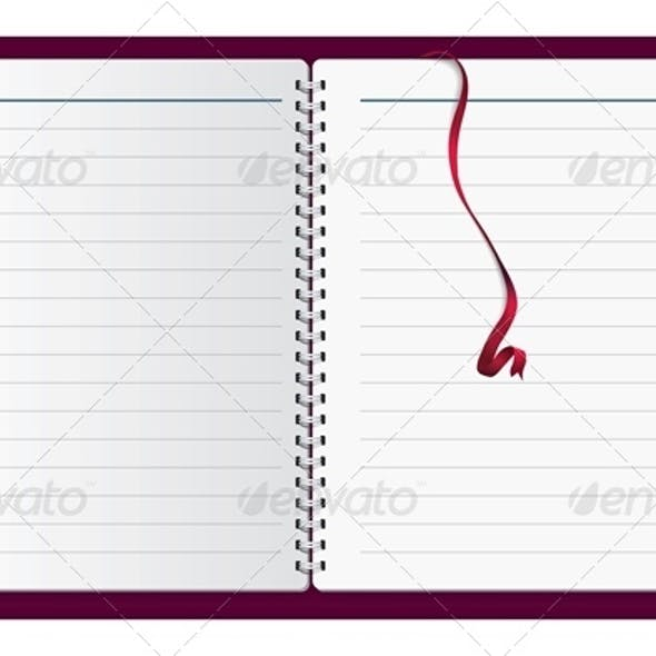 Vector Spiral Notepad