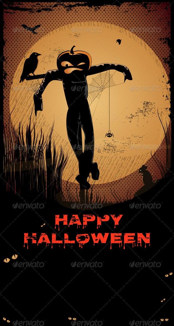 Halloween Scarecrow - Halloween Seasons/Holidays