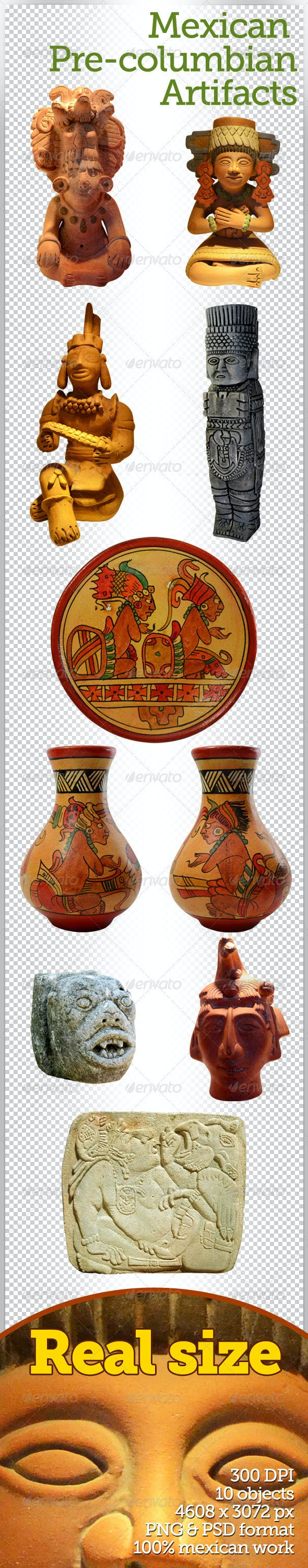 Mexican Pre-Columbian Artifacts - Miscellaneous Isolated Objects
