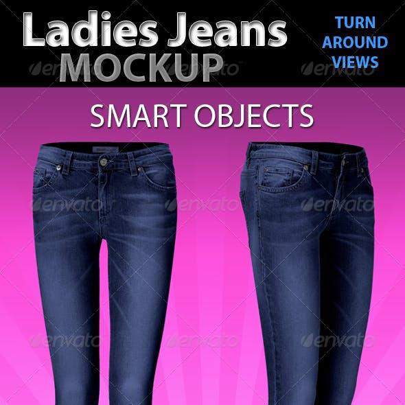 Ladies Jeans Mockup