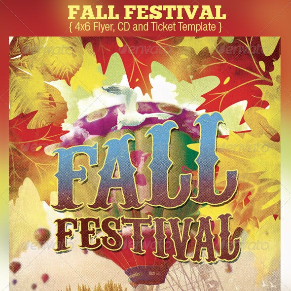 Fall Festival Flyer CD Ticket Template
