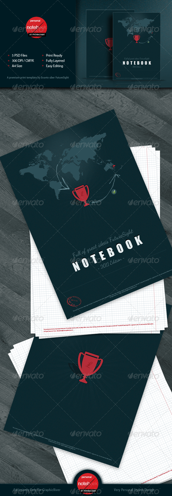 Book & Notebook - Stationery Print Templates