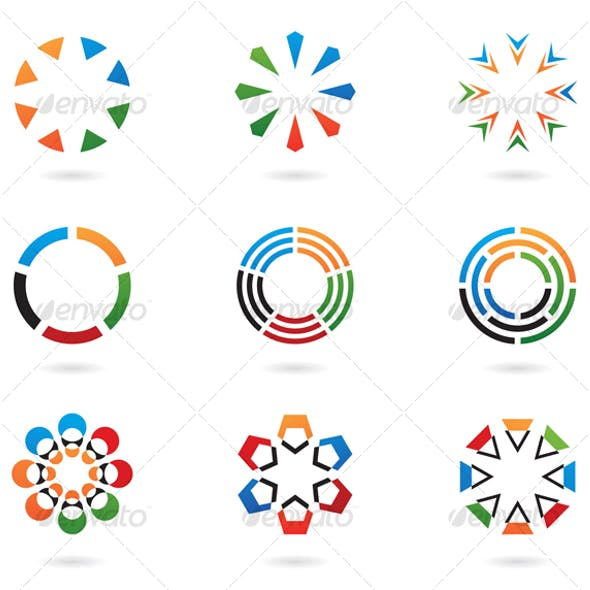 Colourful Abstract Icons and Design Elements