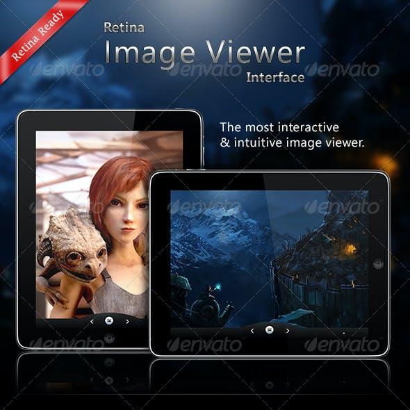 Retina Image Viewer UI