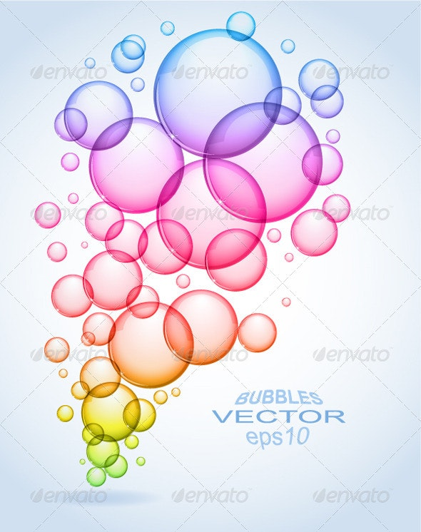Soap bubbles abstract background - Abstract Conceptual