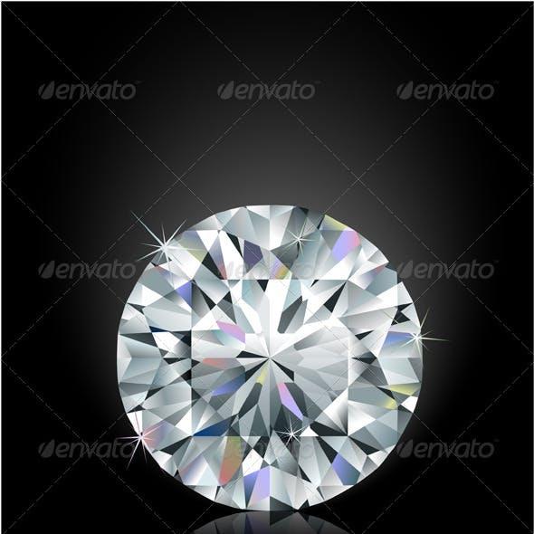 Shimmering diamond