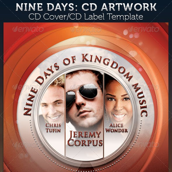 Nine Days: CD Cover Artwork Template