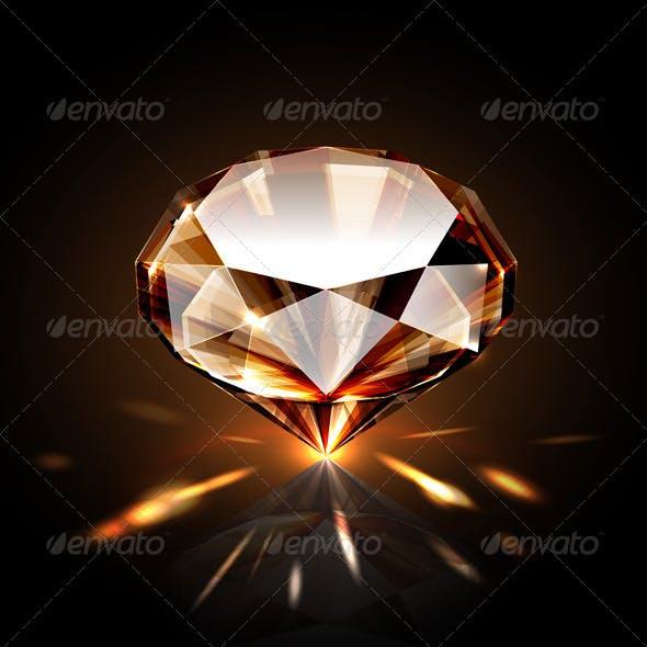 Amber colored diamond
