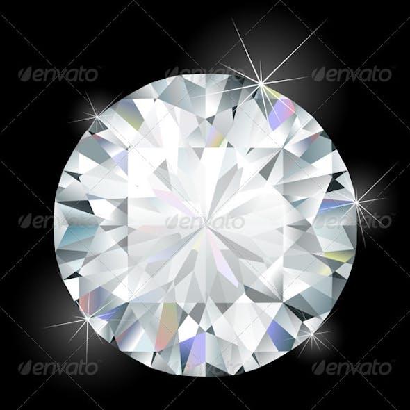 Shimmering diamond illustration