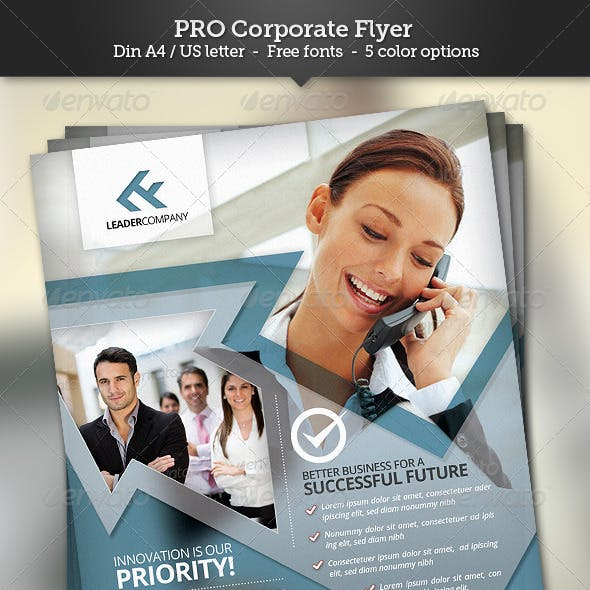 Pro Corporate Flyer Template