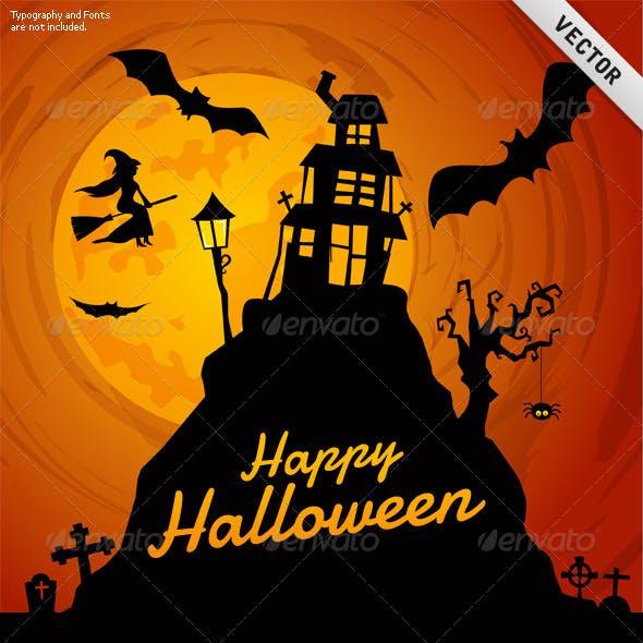 Vector Halloween Background 04