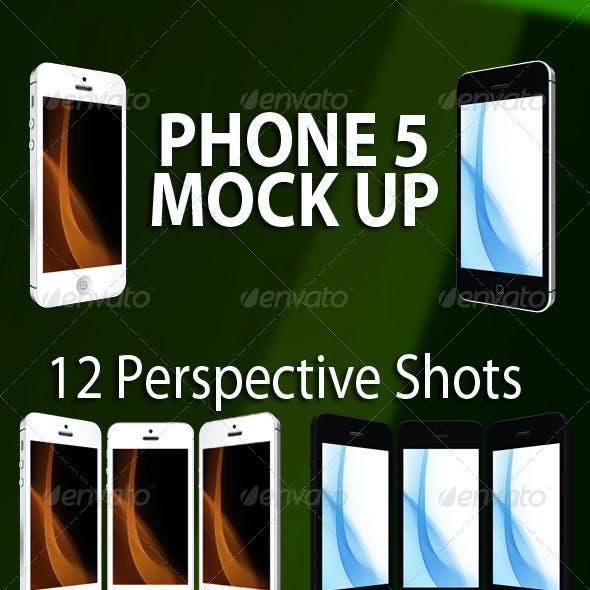 Phone 5 Mock Up