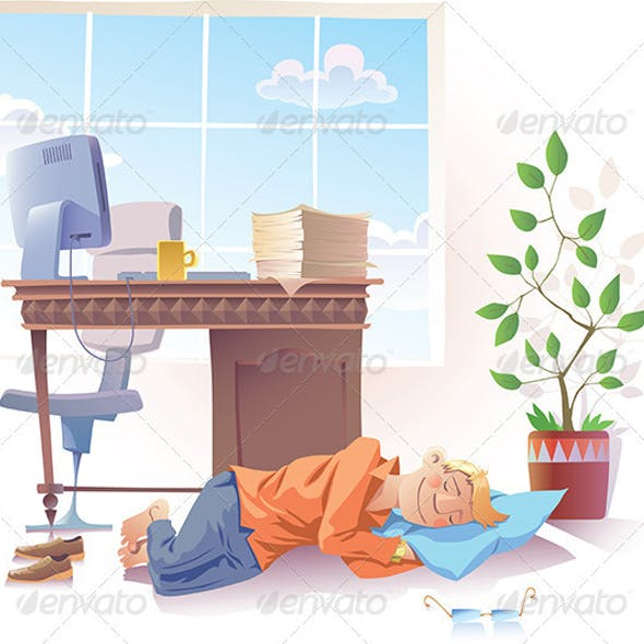 Sleeping at Office