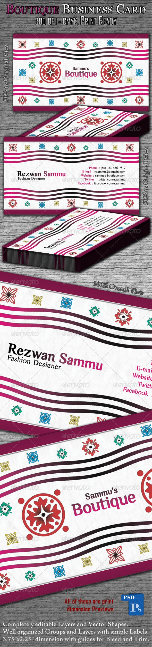 Boutique Business Card - Creative Business Cards