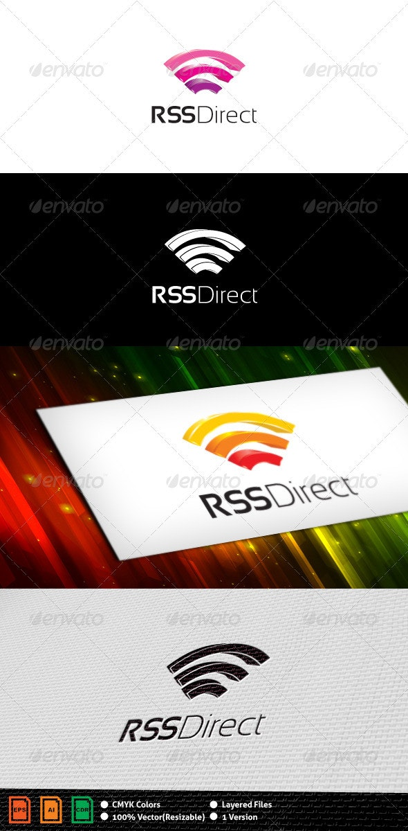 RSS Direct(Wireless) Logo Template - Vector Abstract