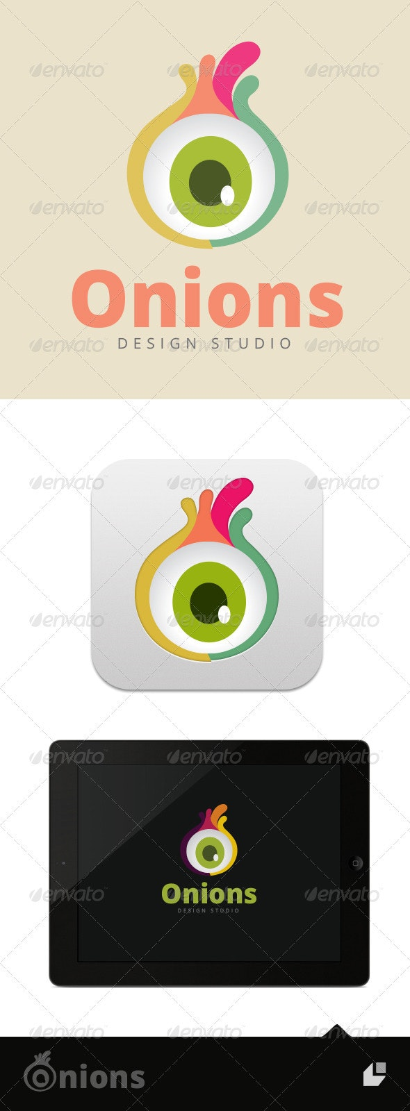 Onions Studio Logo - Vector Abstract