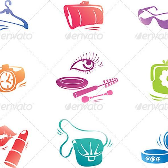 Fashion Accessories Icon Set