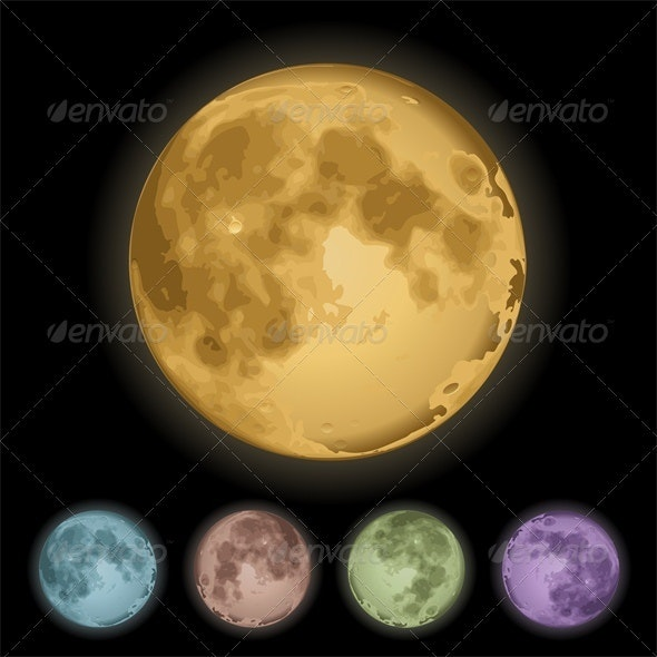 Isolated full moon - Nature Conceptual