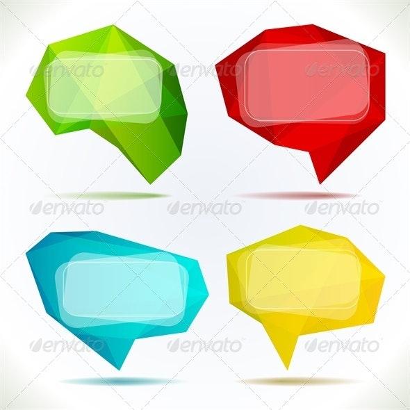 Set of Speech Bubbles - Communications Technology
