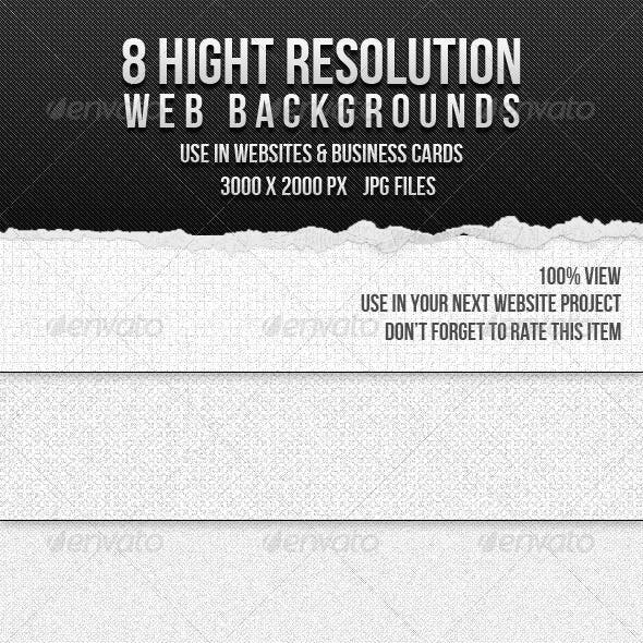 8 High Resolution Web Backgrounds