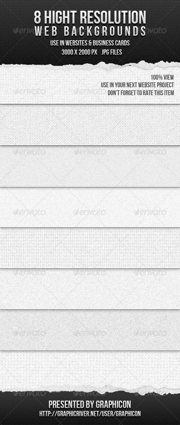 8 High Resolution Web Backgrounds - Patterns Backgrounds