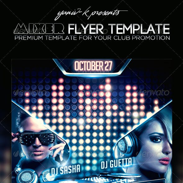 Mixer Flyer Template