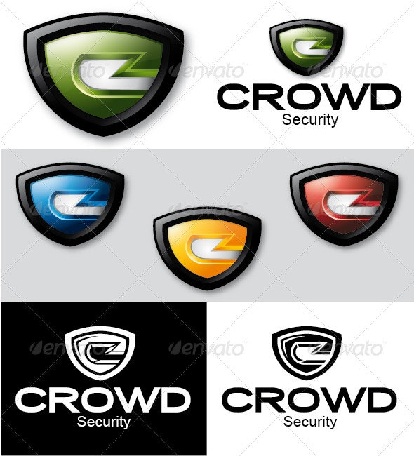 Crowd Security Logo - Letters Logo Templates