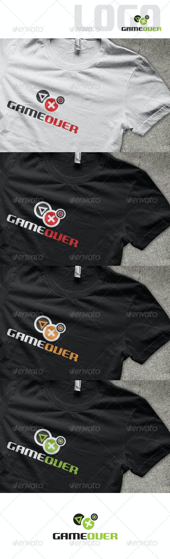 Game Over Logo - Symbols Logo Templates
