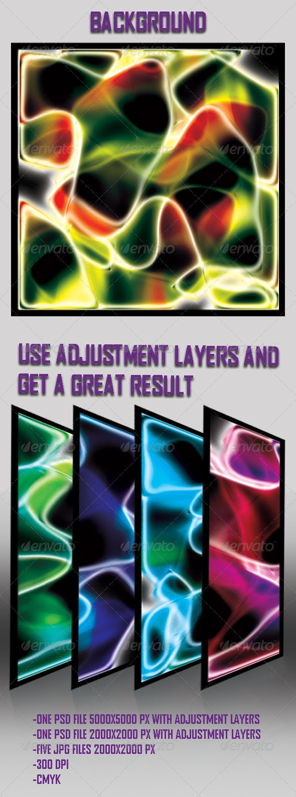 Abstract Neon Backgrounds Set - Abstract Backgrounds